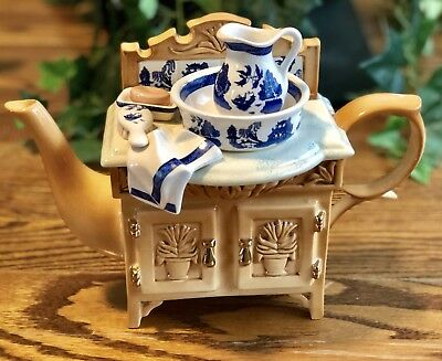 CARDEW BLUE Royal Doulton Real Old Willow Large Washstand Teapot