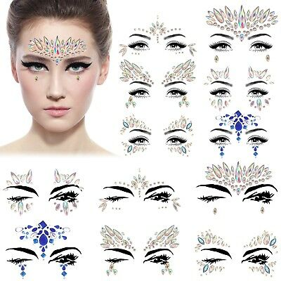 Festival Face Stickers Adhesive Gems Wedding Party Jewellery Art Make Up Jewels