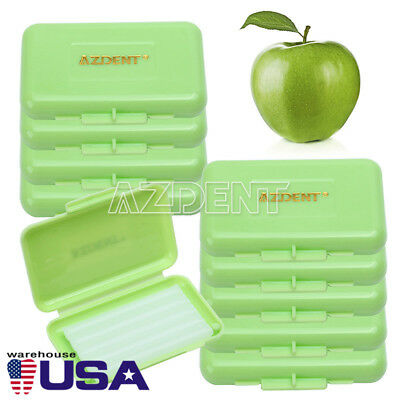 200 Boxes Dental Orthodontic Wax Green Apple Scent for Braces Gum Irritation