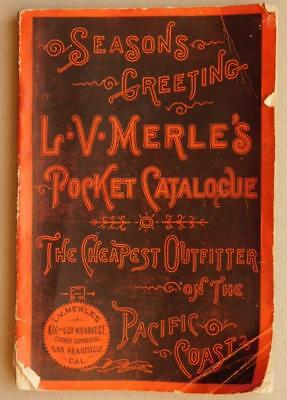 Late 1800's Merle's Pocket Catalog Cheapest Outfitter of the Pacific Coast Sf5-2