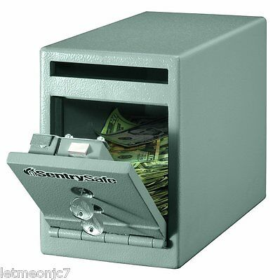 Safe Deposit Box Fireproof Security Office Home Cash Gun Money Key Lock Cabinet