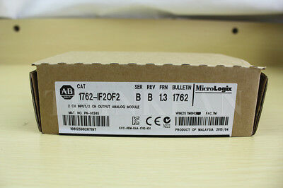 Factory Sealed Allen Bradley AB 1762-IF2OF2 PLC Analog Input Card New in box