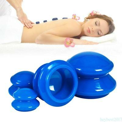 4pcs/set Silicone Anti Massage Vacuum Cupping Body Facial Cups Therapy H