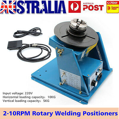 2-10RPM Rotary Welding Positioners Turntable Table Rotation Tilt 3Jaw Mini Chuck