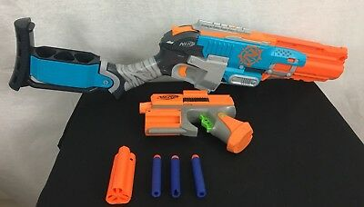 Nerf Guns, Zombie Strike Shotgun With Attachment Pistol, Functional, EUC