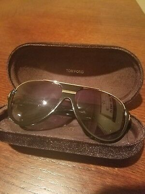 b75f12937 AUTHENTIC TOM FORD Dimitry Aviator Sunglasses FT 334 - 02W *NEW ...