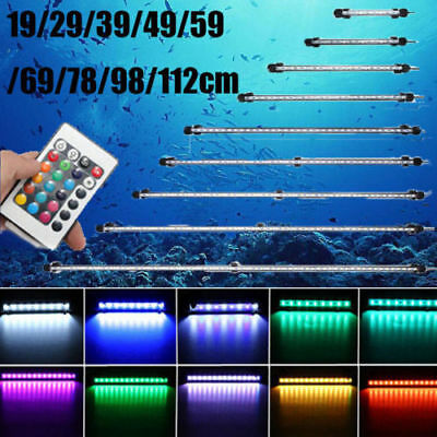RGB White Blue LED Light Clip Strip Lamp Submersible Aquarium Fish Tank + Remote