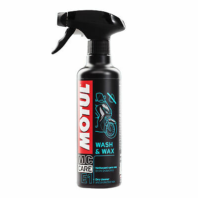 Motul E1 Motorcycle Wash And Wax - 400ml - Cleaner Wax - Dry Cleaner
