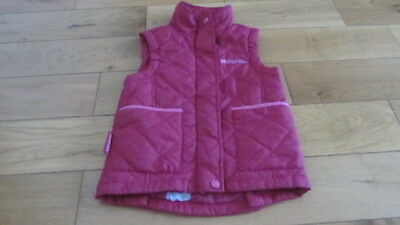 GIRLS *MOUNTAIN WAREHOUSE* PINK GILET SPORTS JACKET Age 5/6 BODY WARMER COAT TOP