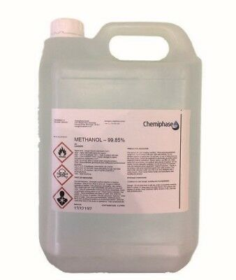 5 Litres of Methanol 99.85% Pure Grade For Biodiesel - Free Delivery