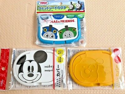 Wet Wipes Tissue Cover Wipes Disney Mickey Mouse Pooh THOMAS Japan Kids Baby F/S