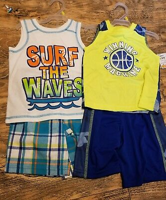 3f242bb70 2 new Healthtex Baby Toddler Boys 3T Graphic Tank and Shorts Outfit Sets