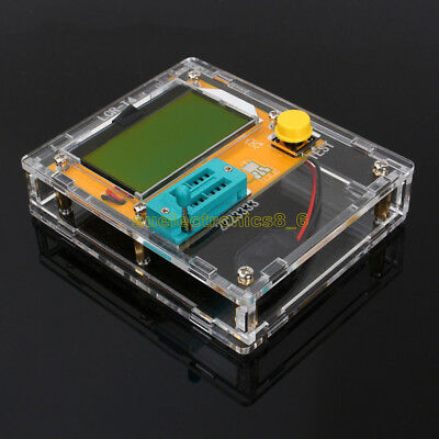 LCR-T4 Transistor Tester /Transistor Tester+Clear Acrylic Case Shell Housing NEW