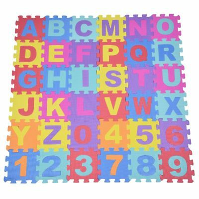 36pcs Soft EVA Foam Baby Children Kids Play Mat Alphabet Number Puzzle Jigs C9T5