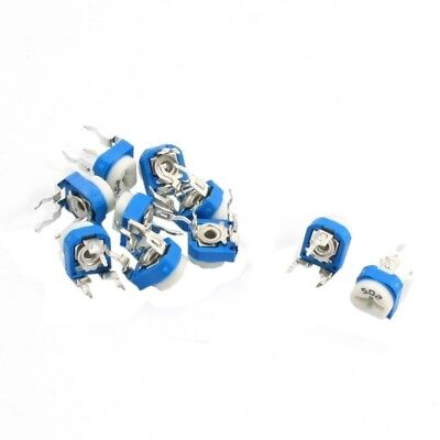 10Pcs 5K Ohm Single Turn Potentiometer Pot Rotary Variable Resistor T3L1