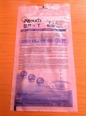Blue Rubber latex surgical gloves size 7 1/2