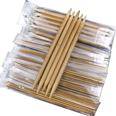 75pcs/set 15 Sizes 20cm Double Pointed Carbonized Bamboo Knitting Needles S L7F7