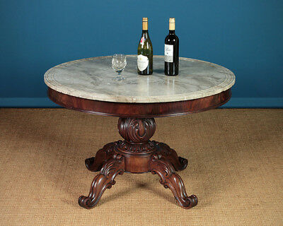 Antique French Marble Top Gueridon Centre Table c.1840.