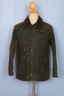 Mens BARBOUR Bedale Waxed Jacket Green Size 32