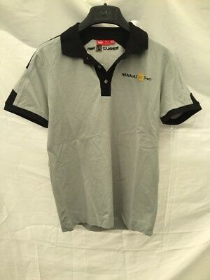 man's Top Puma Renault F1 Team Racing T chirt Polo shirt size small Grey