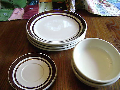 McCoy vintage 8 piece dishes ,4 plates, 2 bowls,2 saucers
