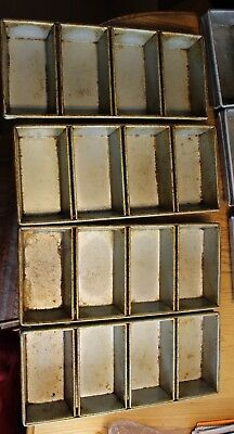 Lot of 4 used Commercial 4-strap Bread Pans Heavy-duty unbranded