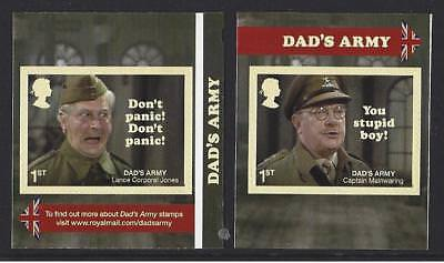 Great Britain 2018 Dads Army Self Adhesive Pair Unmounted Mint, Mnh