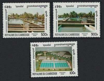 Cambodia 43rd Anniversary of Independence Water Management 3v SG#1610-1612