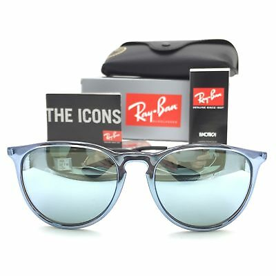 be45c1f23b8 New Ray-Ban RB4171 6319 30 Erika Blue Silver Squared Sunglasses Silver Lens  54mm
