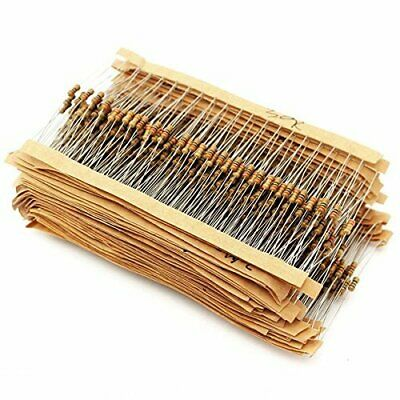 1000pcs 100 Values ±5% 1/2W Carbon Film Resistors Assortment Kit 1 ohm-10M ohm