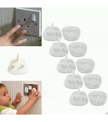 10 x Baby Proof Child Safety Plug socket cover Protector Electrical 3pin/