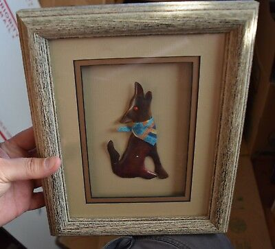 copper images art,Bob Cooper,new mexico, howling wolf coyote,matted framed  s9