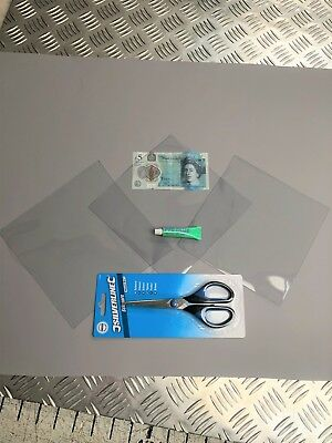 Convertible Rear Window Repair Kit With Glue Soft Top Crystal Hood Plastic Vinyl