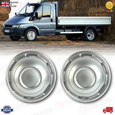 2 X Twin Wheel/pick Up Front Wheel Trims 16 Inches Fits Ford Transit Mk6, Mk7