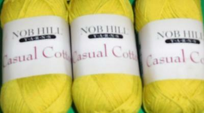 yellow Nob Hill Casual Cotton 100/% cotton yarn 120 yds ea lot of 2