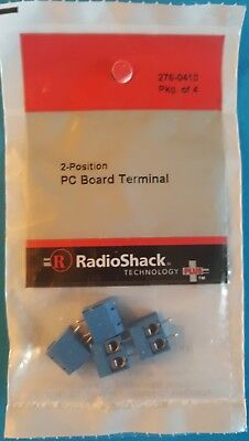 RadioShack 2 Position PC Board Terminal 4 Pack 2760410 *FREE SHIPPING*