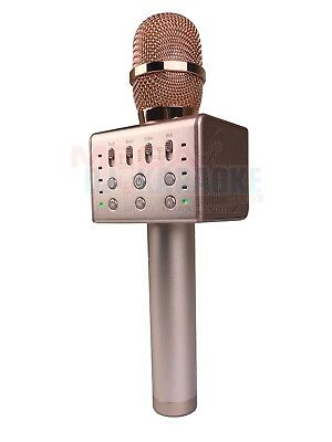 MicGeek Q11 Bluetooth Microphone w/ Voice Changer and Vocal Cancel  (ROSE GOLD)