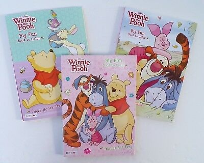 WINNIE THE POOH Lot of 3 Jumbo Coloring and Activity Books for Children - Disney