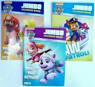PAW PATROL Lot of 3 Jumbo Coloring and Activity Books for Children - Nickelodeon