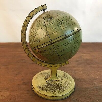 Vintage J. Chein & Co Childs Lithograph World Globe 1930s Made in USA (HD14)