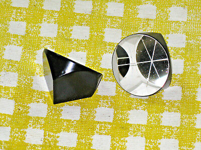 Lot of 2 One Inch Glass Corner Cube Trihedral Prisms RetroReflector, Surveying
