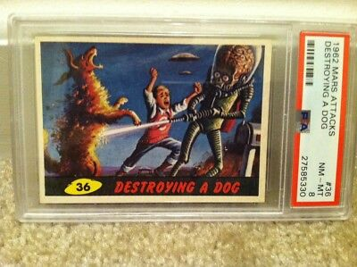 1962 Mars Attacks #36 Destroying A Dog Psa 8