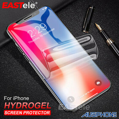 HYDROGEL AQUA Screen Protector Apple iPhone XS Max XR 8 7 Samsung S9 S8 Note 9