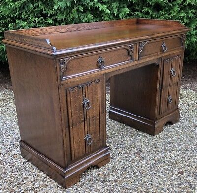 Superb Small Oak   Writing Desk Very Clean 2 Man Delivery