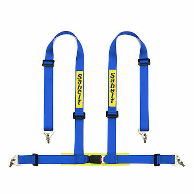 Sabelt 4 Point Clubman Spring Catch Clip In Harness - ECE Approved - In Blue