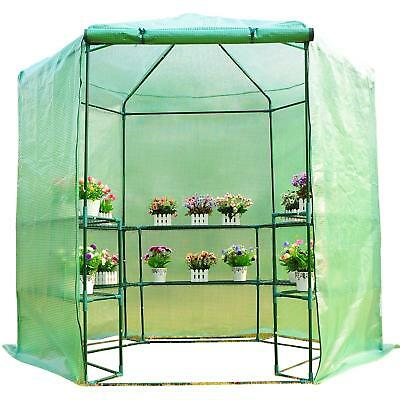 7.5' Walk In Portable Greenhouse Large Green Garden Hot House Grow Tent Warm Box