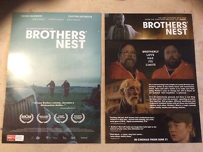Promotional Movie Flyer Brothers' Nest Shane Jacobson *NOT A DVD*