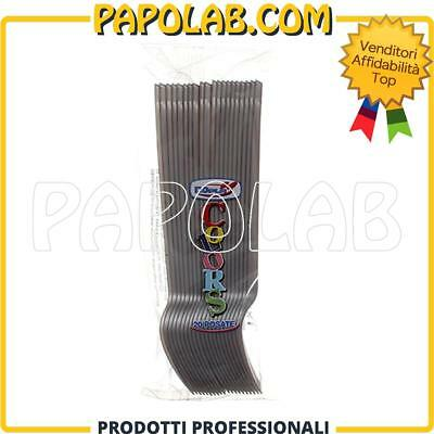 Forchette Di Plastica Colorate Usa E Getta Compleanni Feste Dopla Colors Argento