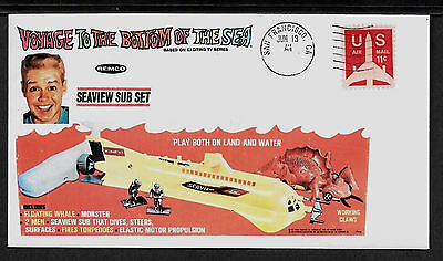 1967 Voyage To The Bottom Of The Sea Ad Featured on Collector's Envelope *A912
