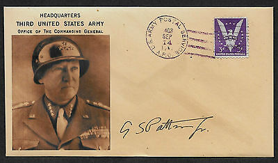 George S Patton Collector's Envelope with genuine 1944 Postage Stamp *584OP
